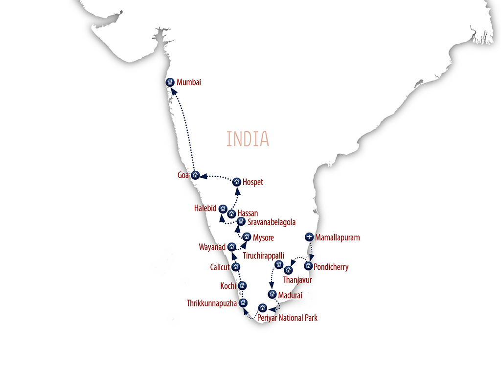 Ultimate South India Itinerary, Indian Group Tour